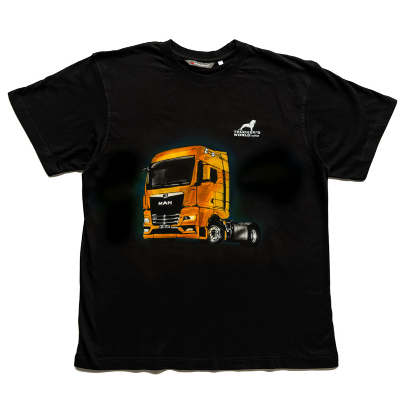 "Trucker's World by MAN - Airbrush T-Shirt ""The new MAN TGX"""